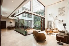 B-one H-shaped plan contemporary villa by Cadence Architects - CAANdesign | Architecture and home design blog