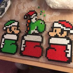 Christmas Mario perler beads by  tyler_plurden