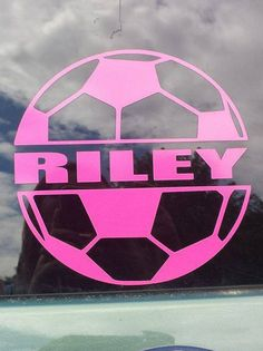 Soccer Wall Decal Vinyl Decal Car Decal Car Decal - Car window decal stickers sports