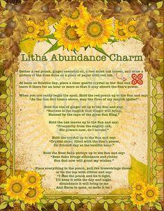 Summer Solstice:  #Litha Abundance Charm.