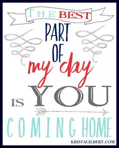 7 Ideas for Welcoming Your Family Home Every Day. Free Printable. Krista Gilbert
