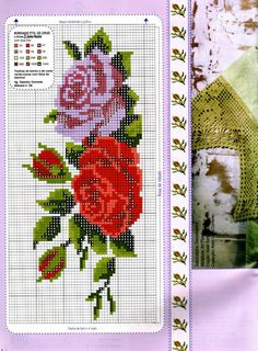 This Pin was discovered by Car Basic Embroidery Stitches, Cross Stitch Embroidery, Hand Embroidery, Cross Stitch Patterns, Cross Stitch Rose, Beaded Cross Stitch, Cross Stitch Flowers, Butterfly Embroidery, Cross Art