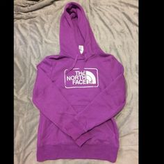 North Face Bundle Really cute north face hoodies. Really warm. Purple one is in great condition. The pink one has a small stain on the sleeve. North Face Tops Sweatshirts & Hoodies