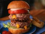 Double-Stacked Juicy Hamburger Recipe : Cooking Channel