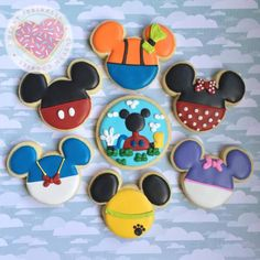mickey mouse, Minnie mouse, Donald duck, daisy duck, pluto, goofy, mickey mouse clubhouse, mickey mouse cookies, birthday cookies