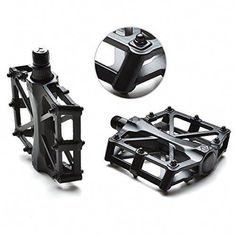 Agptek Mountain Bike Pedals Bicycle Pedals 916 MTB BMX Bearing Alloy Platform Pedals for Mountain Cycling Road Bicycles Black -- Find out more about the great product at the image link. Mountain Biking, Mountain Bike Pedals, Bicycle Pedals, Best Mountain Bikes, Mountain Bike Shoes, Mountain Bike Accessories, Cool Bike Accessories, Bicycle Maintenance, Bike Rider