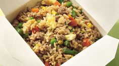 Faster than take-out, serve up veggie-packed fried rice that starts with healthy brown rice.