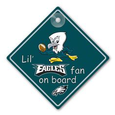 Philadelphia Eagles Lil' Fan On Board Sign