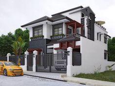 Gray Color Independent Bungalow Exterior Design at Modern Interior Concepts #ExteriorDesign #Gray #Stokes