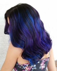 Blue violet hair by purple blue ombre hair me ombre ombre. Purple Blue Ombre, Red Ombre Hair, Violet Hair, Hair Color Purple, Hair Color Highlights, Hair Color Balayage, Pelo Color Azul, Hair Color Pictures, Colorful Hair