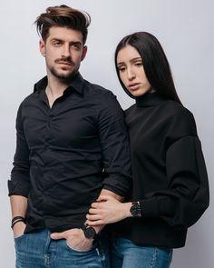 Denim matches perfectly with black shirt Bomber Jacket, Denim, Jackets, Shirts, Black, Fashion, Down Jackets, Moda, Black People