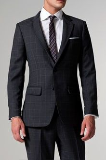 The Business Class Gray Plaid Suit