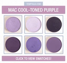 MAC Cooler-Toned Purple Eyeshadows