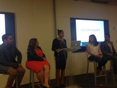 Happy to be at a MAIP alumni event discussing careers in communications with our  SVP, Margarita Miranda-Abate.