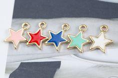 colorful star pendant-ag