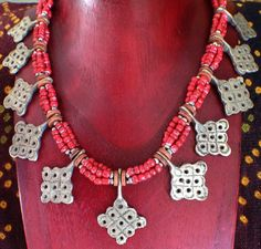 Hey, I found this really awesome Etsy listing at https://www.etsy.com/listing/242635007/moroccan-berber-necklace-with-old-red
