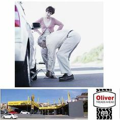 """""""Honey, I told you to go to Oliver Tyres Mossel Bay"""", don't let this happen to you, come to us for #professional and fast #service before taking a long trip. #tyresafety"""