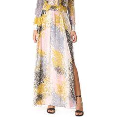 Diane von Furstenberg Jade Skirt ($260) ❤ liked on Polyvore featuring skirts, stella fresco rock, print skirt, striped maxi skirts, print maxi skirt, patterned maxi skirt and long skirts