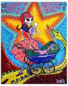 Día de la impresión del arte de madre muerta. por BonesNelson