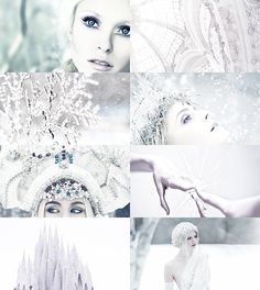 "mordicanting: ""Fairy Tale Meme: 7 Villains - [The Snow Queen] "" The snow-flakes grew larger and larger, till at last they looked just like great white fowls. Suddenly they flew on one side; the large sledge stopped, and the person who drove rose up...."