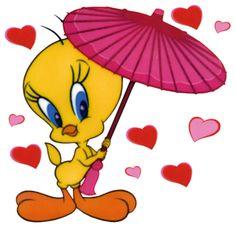 Free Valentine's Day Looney Tunes Tweety Cartoon Scrapbook Clipart ...