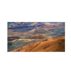 """Trademark Art """"Haleakala Volcano"""" by Pierre Leclerc Photographic Print on Wrapped Canvas Size: 10"""" H x 19"""" W x 2"""" D"""