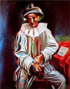 Pierrot with a mask, Pablo Picasso, 1918. veja também: http://semioticas1.blogspot.com.br/2013/02/nadar-com-o-pierro.html