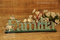 #RecortesAMJ  #AulasNaAMJ  #ArteMadeiraJoinville Scrap, Home Decor, Wood Paintings, Wood Art, Arts And Crafts, Diy And Crafts, Lift Off, Trinket Boxes, Decorated Letters