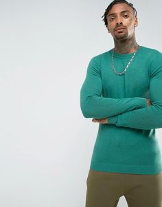 Get this Asos's knit pullover now! Click for more details. Worldwide shipping. ASOS Muscle Fit Jumper In Jade Green - Green: Muscle fit jumper by ASOS, Fine knit, Crew neck, Slim-cut sleeves, Ribbed trims, Tight fit to the body, Skinny fit � cut closely to the body, Machine wash, 100% Cotton, Our model wears a size Medium and is 185.5cm/6'1 tall. ASOS menswear shuts down the new season with the latest trends and the coolest products, designed in London and sold across the world. Update…