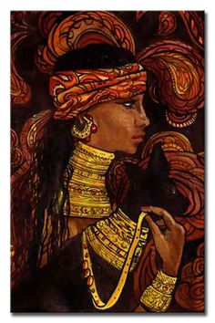 "— Jean Claude Legagneur – ""Deep look"" African Theme, African Art, The Bible Movie, Girl Empowerment, Black Artwork, Black Artists, Black Women Art, Ancient Civilizations, Silk Painting"