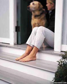 Slip-Proof the Back Steps  (or the dog's ramp -k)