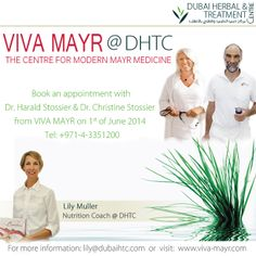 Book an appointment with Dr. Christine Stossier & Dr. Harold Stossier from Viva Mayr on 1st of June 2014, please call 04 335 1200.
