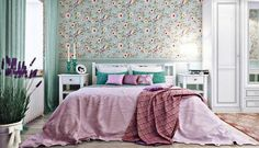 30 Modern Bedroom Wall Design Ideas 2019 Bedroom Wallpaper Ideas 2019 Stunning Trends To Try. Wallpaper Design For Bedroom, Bedroom Wall Designs, Wallpaper Ideas, Design Bedroom, Wallpaper Designs, Best Bedroom Colors, Bedroom Color Schemes, Awesome Bedrooms, Beautiful Bedrooms