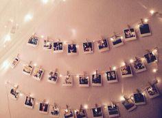 Kale muur ? Versier je muur met leuke foto's van je familie en vrienden. Geen zin in fotolijsten of geplak aan de muur ? Hang de foto's gewoon aan een waslijn en hang de waslijn met foto's langs de muur