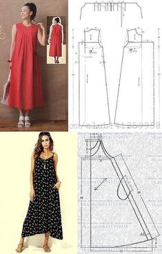 Sewing Clothes Women, Diy Clothing, Clothing Patterns, Dress Patterns, Costura Fashion, Shirt Refashion, Daily Dress, Easy Sewing Patterns, Dresses Kids Girl