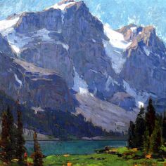 Edgar Alwyn Payne — Sierra Lake and Peaks