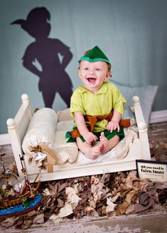 My son Matthew Christian as Peter Pan! (Photo by My Life-Photography)    Baby Photography Ideas/  Child Photography Ideas / Disney Baby / Disney inspired photography / Peter Pan