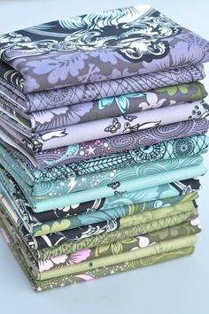 Love these colors.  Free Spirit Westminster Tula Pink Nightshade COMPLETE 15 Fat Quarter Bundle. $38.00, via Etsy.
