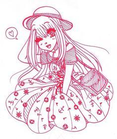 a friend asked me to draw Chloe from girlfriend kakko kari #lineart #traditionalart #chloe #girlfriendkakkokari