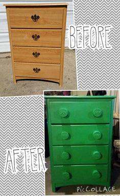 Dresser redone into a LEGO dresser!