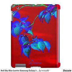 Red Sky Blue Leaves iPad Mini Case