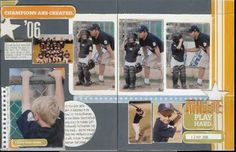 Baseball scrapbook ideas