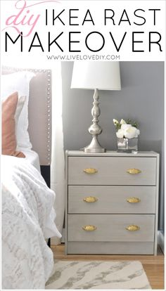 LiveLoveDIY: DIY Ikea Rast Makeover with Weathered Gray Wood Stain