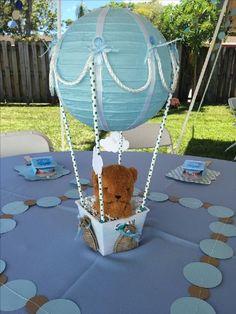 Hot Air Balloon Centerpieces, Diy Hot Air Balloons, Baby Shower Centerpieces, Baby Shower Decorations, Boy Baby Shower Themes, Baby Shower Fun, Baby Shower Printables, Baby Balloon, Baby Shower Balloons