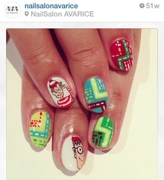 Where's Waldo? Nail art
