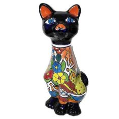 Talavera Mr. Cat | Mexican Home Decor | Mexican Talavera | Mexican Decor | Mexican Art | Mexican Handmade Art | #homedecor #talavera #mexicanTalavera #mexicanDecor #mexicanHome Mexican Home Decor, Mexican Art, Mexican Decorations, Mr Cat, Talavera Pottery, Program Design, Handmade Art, Picture Show, Wood Carving