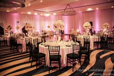 Floating candles underneath Hydrangea, Roses, and Spray Roses