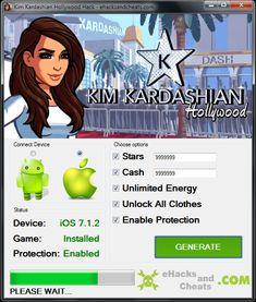 Hack and Keygen: Kim Kardashian Hollywood Hack