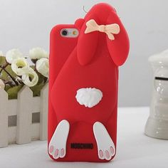 Moschino Rabbit iPhone 6/6 Plus Case Red