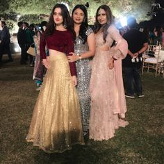 Dresses - Image may contain 3 people Western Wear Dresses, Party Wear Dresses, Bridal Dresses, Party Dress, Lehnga Dress, Lehenga Gown, Indian Wedding Outfits, Indian Outfits, Indian Designer Outfits